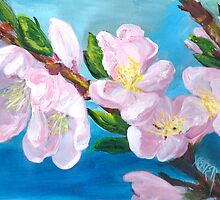PEACH TREE BLOSSOMS by M Diana Heater
