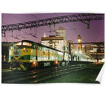 Indian Pacific at Central Station, Sydney Poster