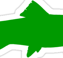 Green Trout Silhouette Sticker