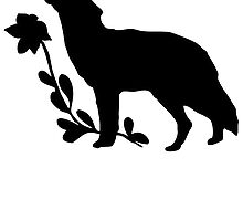 Black Howling Wolf Silhouette by kwg2200