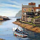 Out to Sea - Staithes by Patricia Sabin