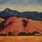 Mt. St. Helena from Calistoga by Steven Guy Bilodeau