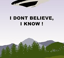 I Dont Believe, I Know !  by Martin Rosenberger