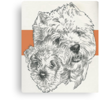 West Highland White Terrier, Father & Son Canvas Print