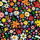 Spring Flowers Pattern by BluedarkArt