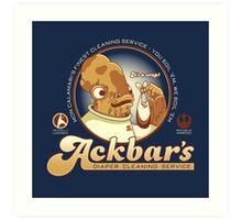 Ackbar's Diaper Cleaning Art Print