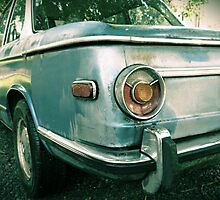 Vintage BMW Tail Light rustic car photography by jemvistaprint