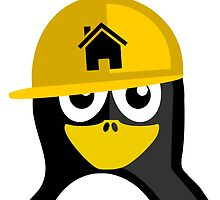 Construction Worker Penguin by kwg2200
