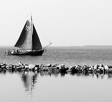 Sailing on the Grevelingen, The Netherlands, by M. van Oostrum
