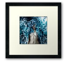 Ocean Fabric Framed Print