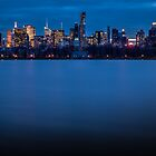Midtown Manhattan at Night by Johannes Valkama