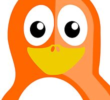 Orange Penguin by kwg2200