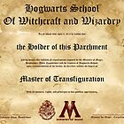 Official Hogwarts Diploma Poster - Transfiguration by eaaasytiger