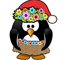 Hawaiian Christmas Penguin by kwg2200