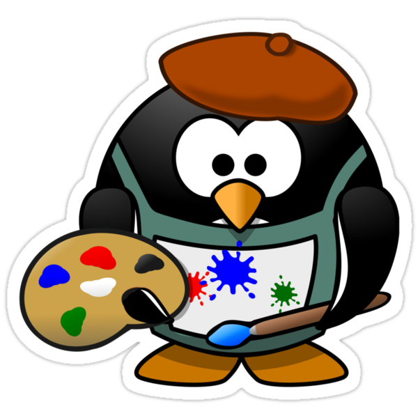 Painter Penguin by kwg2200