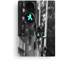 Trademark:  East German pedestrian crossings. Canvas Print