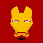 Iron Man Face iPhone Case and T-Shirt by aschwall33