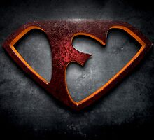 "The Letter F in the Style of ""Man of Steel"" by BigRockDJ"