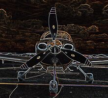 Propeller/Engine Cowl View of Airplane by Kim Krause