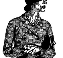 B&W Fashion Illustration - Tweed by Paul  Nelson-Esch