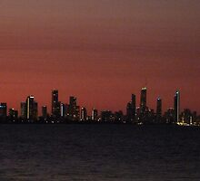 Surfers Paradise Lights by FangFeatures