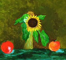 Piet's Sunflower in a Vase by Anne Gitto