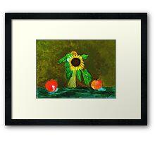 Piet's Sunflower in a Vase Framed Print
