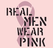 Real Men Wear Pink Ribbon T-Shirt