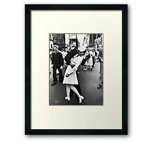 Times Square V/J-Day Kiss Framed Print