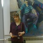 next to my painting on exibition. by Natasa Ristic