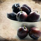 Plums with vintage by RosiLorz