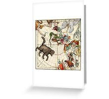 Ursa Major, Ursa Minor, Perseus, Hercules, Cassiopea, Andromeda And Other Constellations Greeting Card