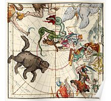 Ursa Major, Ursa Minor, Perseus, Hercules, Cassiopea, Andromeda And Other Constellations Poster