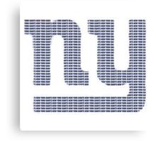 NY text logo Canvas Print