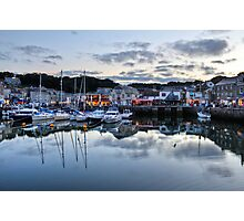 Dusk Over a Cornish Harbour Photographic Print