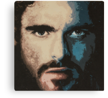 Acrylic Painting of Rob Stark Canvas Print