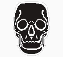 Pixel Skull Black Kids Clothes