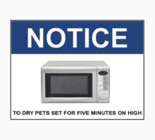 To dry pets, set microwave for 5 minutes on high by Bundjum
