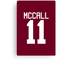 Scott McCall's Jersey - white text Canvas Print