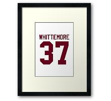 Jackson Whittemore's Jersey - maroon/red text Framed Print
