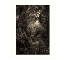 Steam and rainforest Art Print