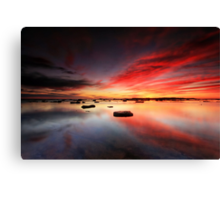 Long Reef Reflections Canvas Print