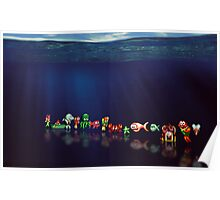 James Pond pixel art Poster