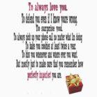 """To always love you."" by Quhethegleek"
