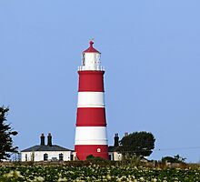 Happisburgh Lighthouse Norfolk (2) by Avril Harris