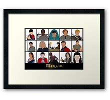 Characters Of Merlin Framed Print