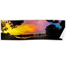 Sunset over Lake Zapper Poster