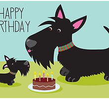 Birthday Cake and Scotties by BonniePortraits
