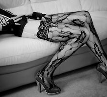 Legs in Pretty Lace. by Dave Hare