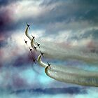Red Arrows by David  Barker